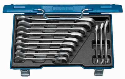 Kombinirani ključi z ragljo set, reverzibilna 12 kosov 8-19 mm