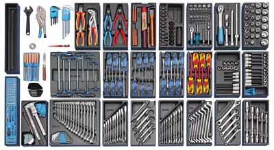 Veliki komplet orodja v modulih, 325 kosov