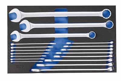 Set kombiniranih ključev v 4/4 CT modul za orodje, 18 kosov