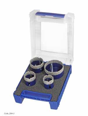 Set 4 diamantnih kronskih svedrov za kotne brusilke