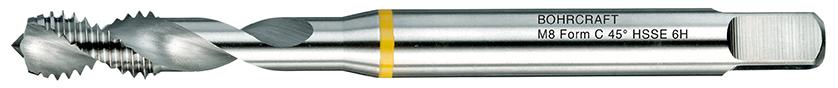 Strojni navojni svedri Rumeni obroč DIN 376 HSS-E (Co 5) M, oblika C RSP 45°
