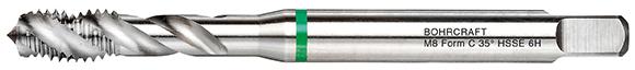Strojni navojni svedri Zeleni obroč DIN 371 HSS-E (Co 5) M, oblika C