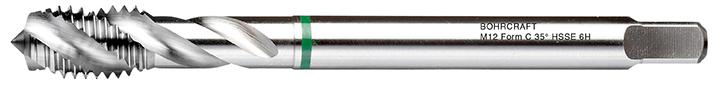 Strojni navojni svedri Zeleni obroč DIN 376 HSS-E (Co 5) M, oblika C