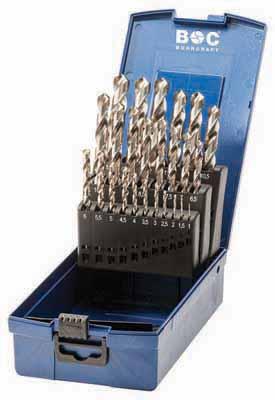 Set 25 spiralnih svedrov DIN 388 HSS-G brušeni, s križnim obrusom v ABS plastični škatli