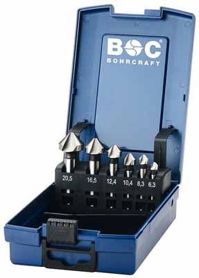 Set 6 grezil DIN 335 Tip C 90° HSS v ABS škatli