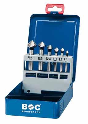 Set 6 grezil DIN 335 Tip C 90° HSS v kovinski škatli